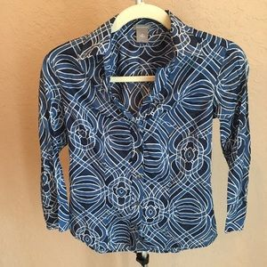 3/$30 Ann Taylor Blue Button Down Sz 00